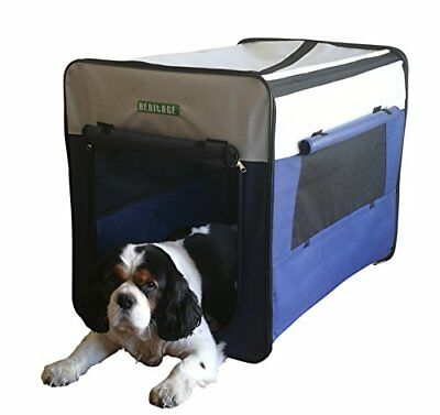 3055 Dog Pet Crate Fabric Soft Carrier Kennel Travel Folding Cage   Free Bed med