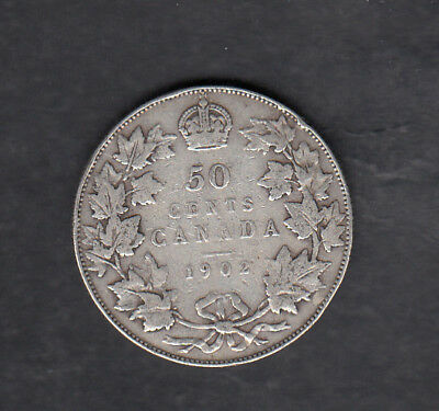 1902 Canada Silver 50 Cents