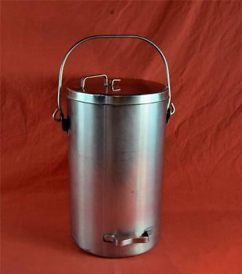 Vollrath 59200 Stainless Steel Covered 20 Quart 5 Gallon Ice Cream/Tote Pail