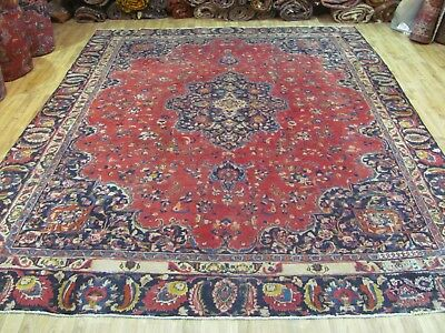 A MARVELLOUS OLD HANDMADE MASHAD KHORASON PERSIAN CARPET (332 x 246 cm)