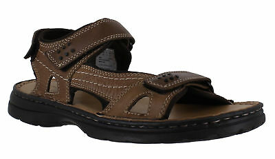 Mens Hush Puppies Spectrum Triple Touch Fasten Strapped Sandals Sizes 7 to 10