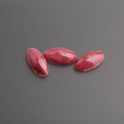 Rhodonite Cabochon 15,5 x 8 mm Oval Pink-Black/Box