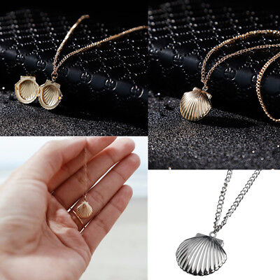 New Women 1Pcs Golden/Silver Plated Sea Shell Pendant Statment Necklace Jewelry