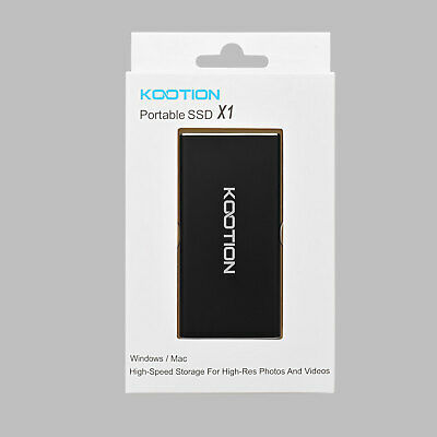 KOOTION Portable SSD 128GB Solid State USB 3.0 External Hard Drive For Computer