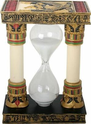 "Ancient Egypt Sand Timer 5.75"" Height White Sands Egyptian Tabletop Decor"