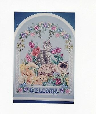 Janlynn Cross Stitch Kit Welcome Cats