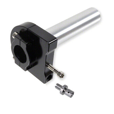 TWIST GRIP THROTTLE SHORT HUB QUICK in Black for Scooter Quad ATV with 22mm