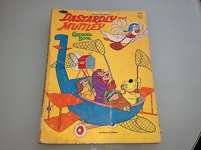 1970's Vintage DASTARDLY & MUTTLEY Coloring BOOK rare USED poor condition