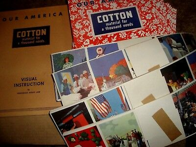 1943 Coca Cola Our America COTTON  classroom kit with 4 posters 30 pupils