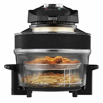 New 1300w Tower Airwave Low Fat Air Fryer 17 Litre Capacity 5l Extender Ring.