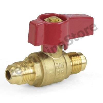 "3/8"" Flare Brass Gas Shut-Off Ball Valve, Natural-NG or Propane-LP, CSA Approved"