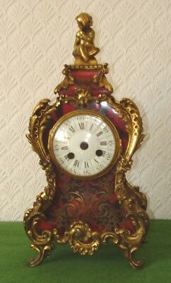 ANTIQUE SUPERB FRENCH CHERUB ORMOLU & BOULLE CLOCK CASE NEEDS MOVEMENT circa 188