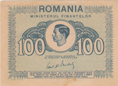 100 Lei Extra Fine Crispy Banknote From Romanian Kingdom 1945!pick-78