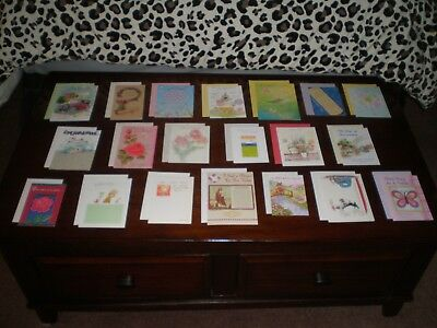 LOT OF 20 NICE QUALITY CARDS MIXED THEME GREETING CARDS NEW with Envelopes #11