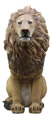 "Large Lion Statue 20""Tall Unique Figurine Fine Resin Collectible Wild Life"