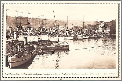 1915 Print WW I Photo Istambul Turkey Bosporus Military Ships Torpedoboats