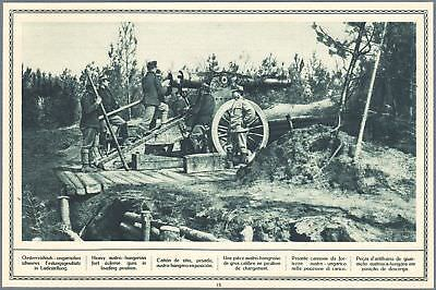 1915 Print WW I Photo Austro-Hungarian Fort Heavy Defence Gun Artillery