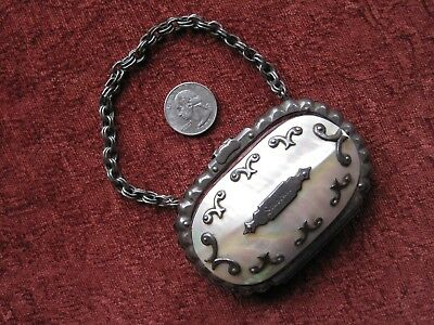Antique Mother- Of- Pearl Shell Change Purse