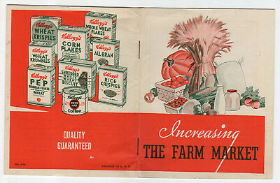 Vintage, 22 Page, Kellogg's Cereal Booklet, Increasing The Farm Market, Recipes