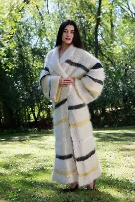 LONG MOHAIR SWEATERCOAT with CASHMERE AND ANGORA