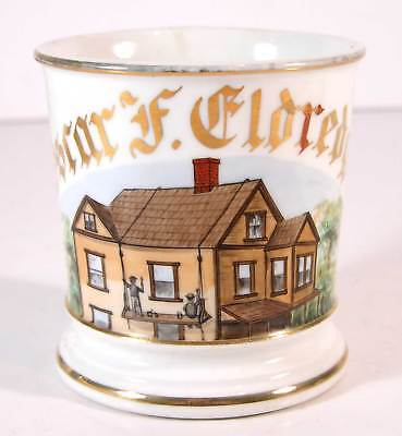 ca1900 HAND PAINTED OCCUPATIONAL SHAVING MUG - HOUSE PAINTERS SHAVING MUG