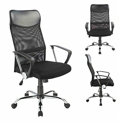Office Chair- 0341 Duhome - Mesh Ergonomic Chef Armchair Swivel Tilt Function Hi