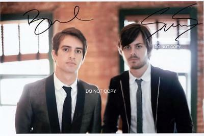 """Brendon Urie & Spencer Smith Panic! at the Disco 8x12"""" Reprint Signed Photo RP"""