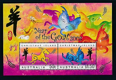 2003 Christmas Island Year Of The Goat Minisheet Fine Mint Mnh/muh
