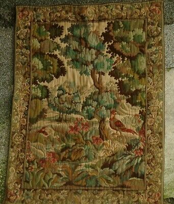 """Vintage  tapestry"""" nature scene  wall hanging  JACQUARD loom ."""