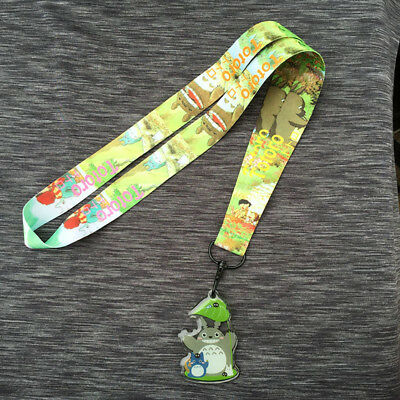 Totoro Schlüsselbänder Cell Phone Rope Strap Cords Clip Lanyard With PVC Pendant