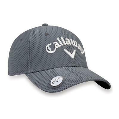 Callaway Golf 2018 Stitch Magnet Adjustable Cap Inc Ball Marker (Charcoal) 9e1b6cce1a3