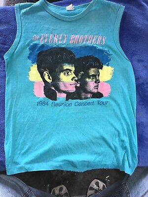 Vintage The Every Brothers Reunion Concert Tour 84 Shirt Rock And Roll