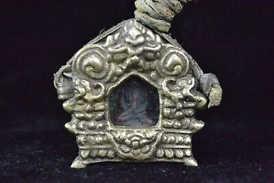 handwork oriental Tibet Collectible Old Copper buddha Statue amulet Pendant