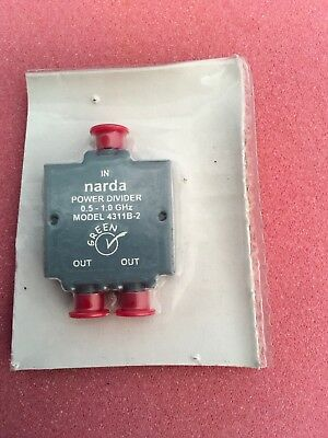 NEW Narda 4311B-2 SMA 2-Way Octave Band Power Divider 0.5-1.0GHz SMA(f) Splitter