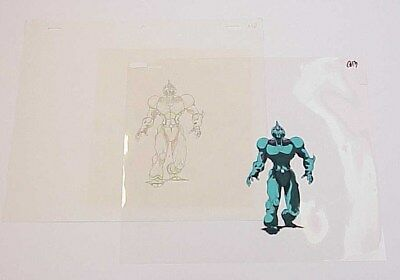 #1 ANIME Bio Booster Armor Guyver Animation Cel w/Production Pencil Drawing