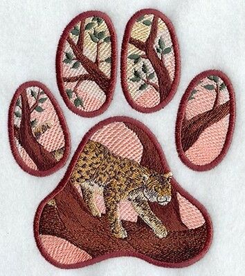 Large Embroidered Zippered Tote - Leopard Track M2129