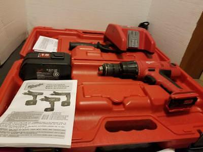 """lok-tor milwaukee 1/2"""" hammer drill  battery and charger 0624-20 18 v case"""