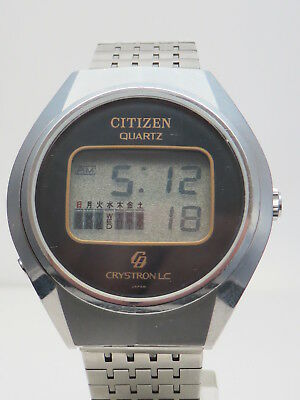 Vintage 70er CITIZEN CRYSTRON LC Quartz Herrenuhr - 60-1071 . Modul 9011 A