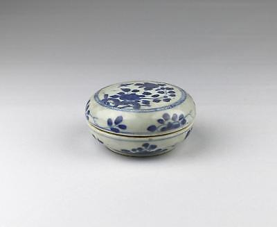 Antique 18thC Chinese Qing Yongzheng Blue & White Ca Mau Porcelain Box Cover 4