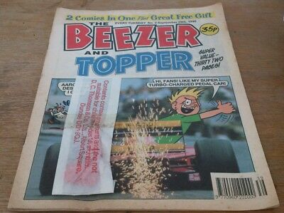 Beezer & Topper No 2, 1990, With Gift