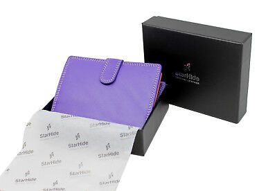 New Ladies Women Genuine Soft Leather Multi Colour Purse Wallet Gift Boxed 5535