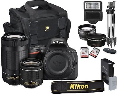 Nikon D5500 Digital Slr Camera 18-55Mm Vr + 70-300Mm Kit 24.2 Mp Bundle