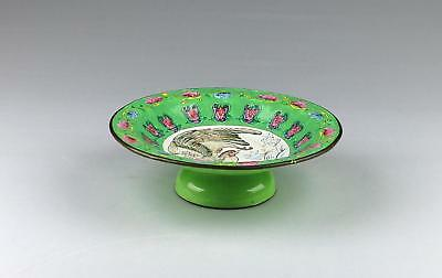 Antique 19/20thC Chinese Qing Famille Rose Canton Enamelled Pedestal Stem Bowl