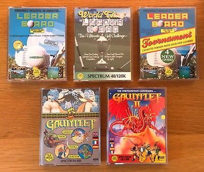 ZX Spectrum...5 GAMES inc. GAUNTLET, GAUNTLET II, LEADER BOARD +++ U.S. GOLD