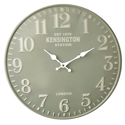 Chic Vintage Style 40cm Wall Clock Large Kensington Kitchen Room House Home Gr