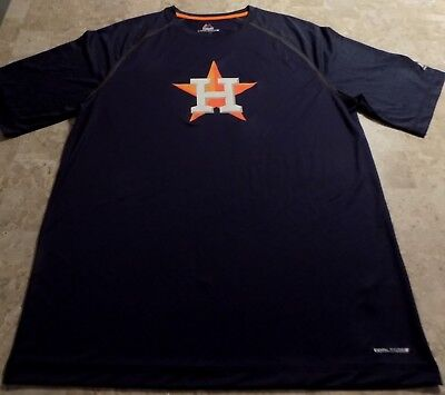 online store 2081c c6d67 HOUSTON ASTROS COOL Base Crew Neck Jersey Large Navy Majestic MLB