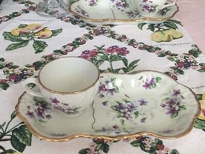 Royal Crown Plate W/ Cup From Staffordshire England ,floral Print, Vintage