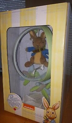 Peter Rabbit Musical Crib Mobile Toy - Soothes Your Baby To Sleep By Lambs & Ivy