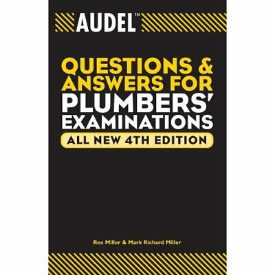 Audel Questions and Answers for Plumbers' Examinations  - Paperback NEW Miller,