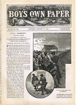 Jan 31 1885: Boys Own Paper: Jules Verne: Southam Ghost  Warwick Post Discount